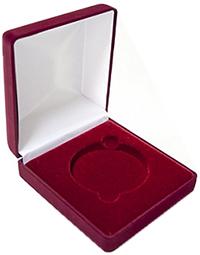 Изображение Аксессуары для монет Бархат Подарочный футляр для крупной монеты Ø 120 мм 0   Подарочный футляр пр
