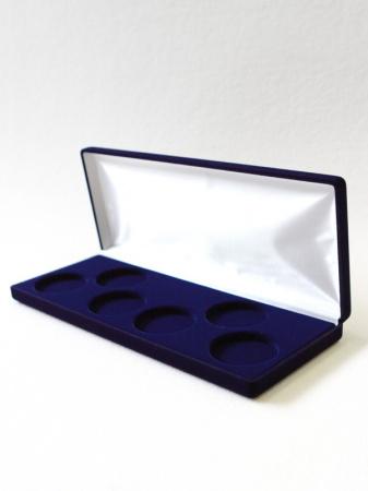 Изображение Аксессуары для монет Бархат Подарочный футляр на 6 монет в капсулах (Ø ячеек 44мм) 0   Футляр (165х165х27 м