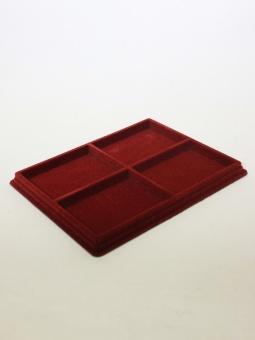 Изображение Аксессуары для монет Другие Пластиковый планшет на 4 ячейки (101х131,5х18 мм) 0