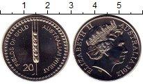 Изображение Монеты Австралия 20 центов 2012 Медно-никель UNC-
