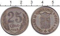 Изображение Монеты Франция 25 сантим 1922 Алюминий XF- Токен. Эр и Луар
