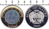 Изображение Монеты Науру 10 долларов 2003 Серебро UNC