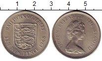 Изображение Монеты Остров Джерси 10 пенсов 1968 Медно-никель UNC- Елизавета II