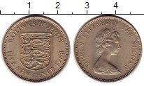 Изображение Монеты Остров Джерси 5 пенсов 1968 Медно-никель UNC- Елизавета II
