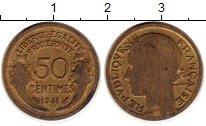 Изображение Монеты Франция 50 сантим 1941 Латунь XF