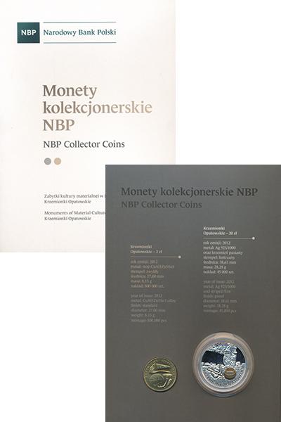 Изображение Подарочные монеты Польша Рудник Кржемински Опатовски 2012