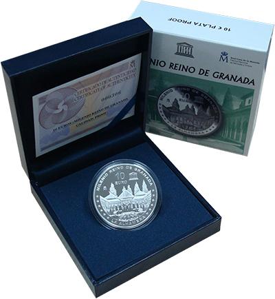Изображение Подарочные монеты Испания 10 евро 2013 Серебро Proof