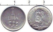 Изображение Монеты Сан-Марино 1 лира 1972 Алюминий UNC-