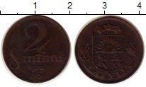 Изображение Монеты Латвия 2 сантима 1928 Бронза VF