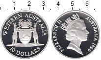 Изображение Монеты Австралия 10 долларов 1990 Серебро Proof- Елизавета II