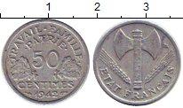 Изображение Монеты Франция 50 сантим 1942 Алюминий XF