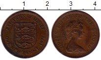 Изображение Монеты Остров Джерси 1 пенни 1971 Бронза XF Елизавета II. Герб