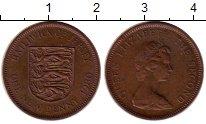 Изображение Монеты Остров Джерси 1 пенни 1980 Бронза XF Елизавета II. Герб