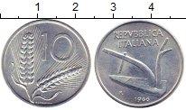 Изображение Монеты Италия 10 лир 1966 Алюминий UNC Плуг
