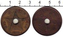 Изображение Монеты Бельгийское Конго 5 сантим 1887 Бронза XF