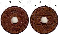 Изображение Монеты Нигерия 1 пенни 1959 Бронза XF Елизавета II