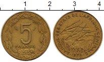 Изображение Монеты Центральная Африка 5 франков 1975 Латунь XF