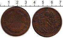 Изображение Монеты Ватикан 2 байоччи 1849 Медь VF