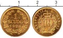 Изображение Монеты Сан-Марино 1 скудо 1975 Золото UNC- KM# 49, вес 3 грамма