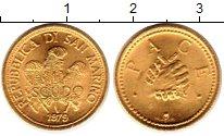 Изображение Монеты Сан-Марино 1 скудо 1979 Золото UNC KM# 99, вес 3 грамма