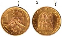 Изображение Монеты Сан-Марино 1 скудо 1988 Золото UNC