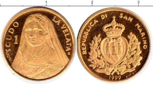 Картинка Монеты Сан-Марино 1 скудо Золото 1999