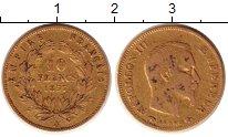 Изображение Монеты Франция 10 франков 1857 Золото VF