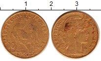 Изображение Монеты Франция 10 франков 1907 Золото VF