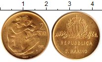 Изображение Монеты Сан-Марино 2 скуди 1981 Золото UNC