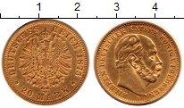 Изображение Монеты Пруссия 20 марок 1875 Золото XF- Вильгельм. KM#505. В