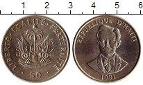 Изображение Монеты Гаити 50 сантим 1991 Медно-никель UNC-