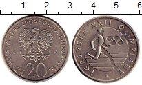 Изображение Монеты Польша 20 злотых 1980 Медно-никель UNC- Олимпиада 80.  Бегун