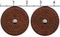 Изображение Монеты Родезия 1/2 пенни 1958 Бронза XF Елизавета II
