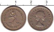 Изображение Монеты Родезия 3 пенса 1962 Медно-никель XF Елизавета II