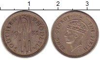 Изображение Монеты Родезия 3 пенса 1951 Медно-никель XF Георг VI