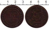 Изображение Монеты Тунис 10 сантим 1891 Бронза VF