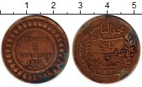 Изображение Монеты Тунис 5 сантим 1912 Бронза VF