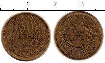 Изображение Монеты Тунис 50 сантим 1941 Латунь XF
