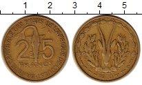 Изображение Монеты Западная Африка 25 франков 1970 Латунь XF