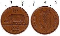 Изображение Монеты Ирландия 1/2 пенни 1966 Бронза XF Свинья
