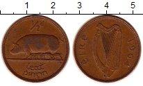 Изображение Монеты Ирландия 1/2 пенни 1964 Бронза XF Свинья