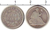 Изображение Монеты США 1/2 дайма 1837 Серебро VF