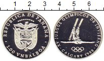 Изображение Монеты Панама 1 бальбоа 1988 Серебро Proof Зимняя  Олимпиада 88