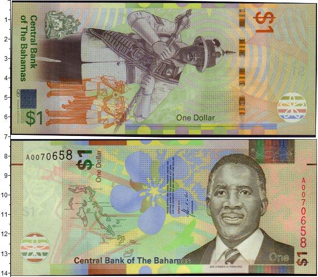 Картинка Банкноты Багамские острова 1 доллар  2017
