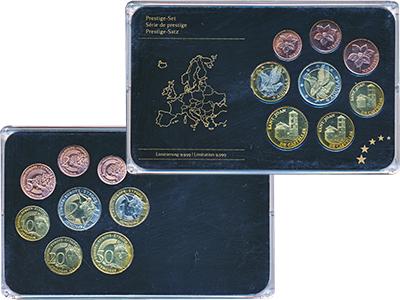 Изображение Подарочные монеты Андорра Европроба 0  UNC UNUSUAL. Набор из во