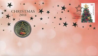 Изображение Подарочные монеты Австралия 1 доллар 2011  UNC Желаем Вам самого ве