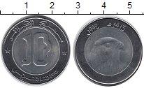 Изображение Монеты Алжир 10 динар 1992 Биметалл XF Сокол