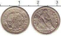 Изображение Монеты США 1/2 дайма 1853 Серебро