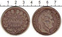 Изображение Монеты Франция 5 франков 1838 Серебро XF-