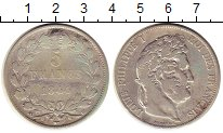 Изображение Монеты Франция 5 франков 1844 Серебро VF
